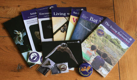 the contents of the Bat Conservation Trust family membership welcome pack