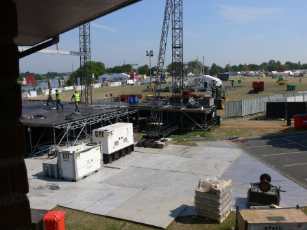The main stage being set up (Matthew Chatfield)