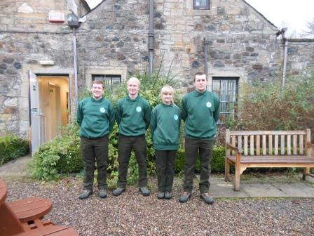The four apprentices Stuart English, James Hek, Charlotte Alston,  Ashley Wathan (North Ayrshire Council)