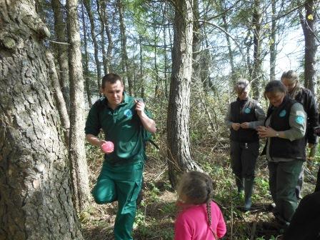 Ashley takes part in some interpretation training  (North Ayrshire Council)