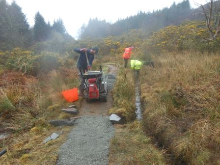Footpath maintenance at Balmacara, Kyle of Lochalsh (J. Kemp)