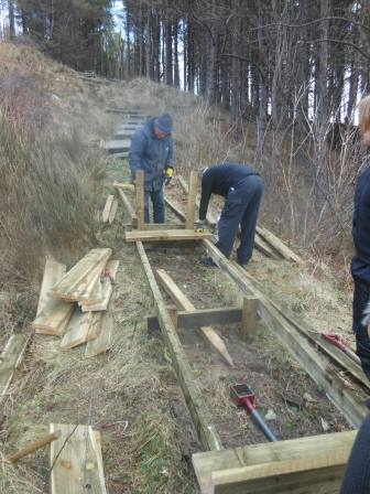 Boardwalk replacement at Culzean Castle & Country  Park, Ayrshire (J. Kemp)