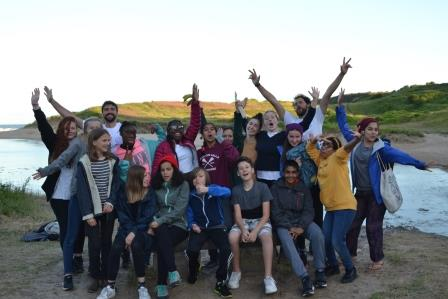 Young people on Action for Conservation's residential camp  (Action for Conservation)