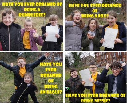 After attending training, Tullochan Youth Services and Knoxland  Primary School took their literacy learning outside using The Lost  Words book and Explorers Guide as inspiration. Watch their  creative creature raps and songs here.  ©Tullochan Youth Services