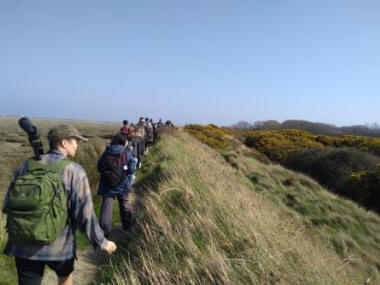 Students explore Pagham Harbour, West Sussex  (Izzy Taylor)
