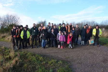 Volunteer group at Silverdale Country Park (Andrew Hunt, Park Ranger Silverdale)