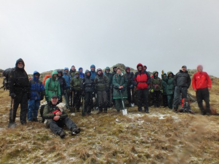 Greenup Edge in hail (Fix the Fells)