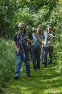 Steve, one of our expert volunteers,  leading a Dragonfly and Damselfly  walk on Wild Rutland Day  (Eric Renno)