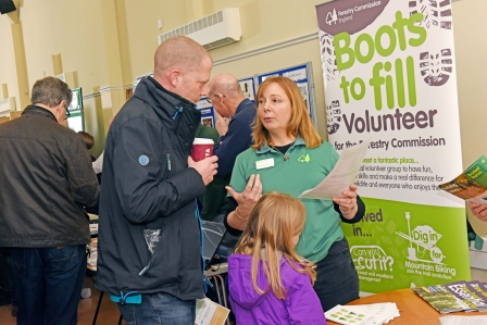 Forestry Commission stand at New Forest Volunteer Fair 2016 (New Forest National Park Authority)