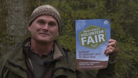 Simon King supports the New Forest Volunteer Fair 2017  (New Forest National Park Authority)