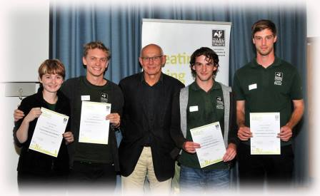2015 trainees presented with certificates by LWT Chair Steve Garland  © Brian Jones