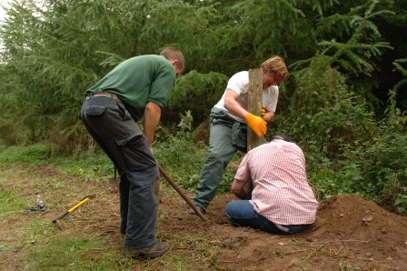 Forestry Commission volunteers carry out maintenance work  (Forestry Commission)