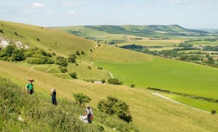 The South Downs from Wilmington Hill: volunteering is a sprawling  concept that requires planning, resources and partnership working  (DG/SDNPA)