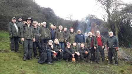 Volunteers from the Eastern Area of the South Downs: the South Downs  National Park relies heavily on volunteers to protect its special qualities  (DG/SDNPA)