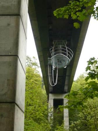 Jumping platform below the bridge  (National Trust for Scotland)