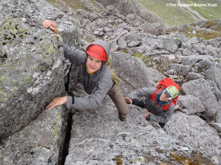 Scaling the heights of the Ledge Route, Ben Nevis