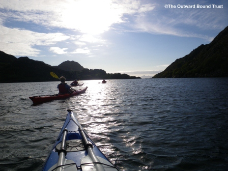 Sea kayaking in the north channel, Loch Moidart