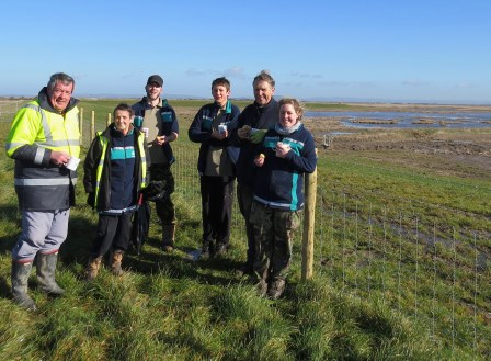 Steart volunteers celebrate first year of work (© Alys Laver WWT)