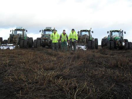 Zach Thompson (far left) – one of the tractor team at Dinsdale  Moorland Services (Yorkshire Dales Millennium Trust)