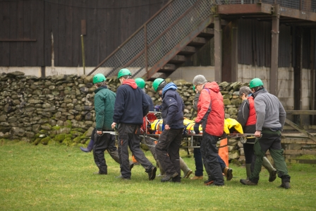 Mountain rescue scenario training (Yorkshire Dales Millennium Trust)