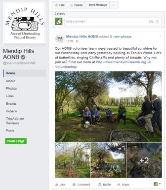 Mendip Hills AONB Facebook page (Mendip Hills AONB)