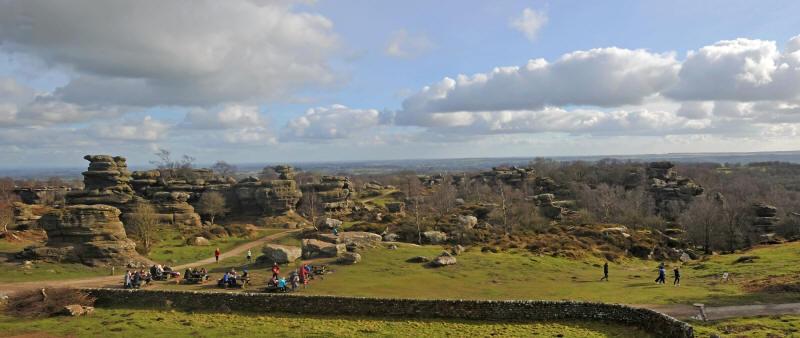 Brimham Rocks panorama (Matt Clark)