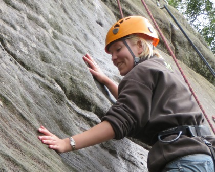 Jaanika at the annual Rock Climbing Taster Session  (National Trust)