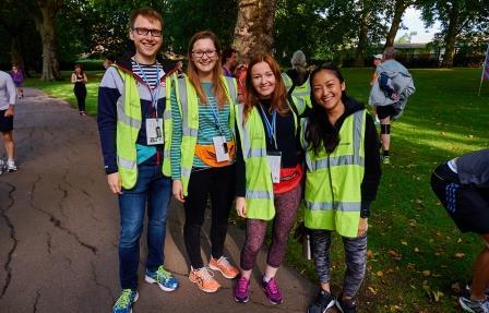 Volunteers at Southwark parkrun in London (Bruce Li)
