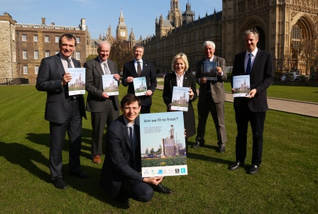 Martin launching the joint report which called for  frack-free zones (Stewart Turkington)