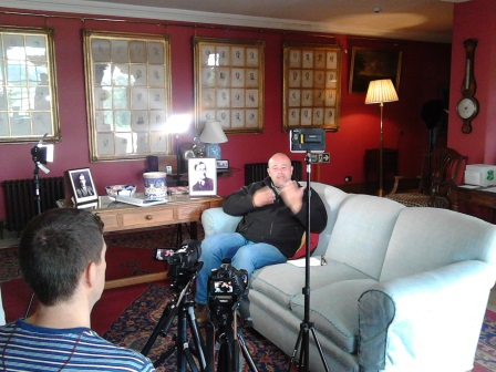 Filming underway at NT Killerton for a BSL signed tour  (copyright Living Options Devon 2016)
