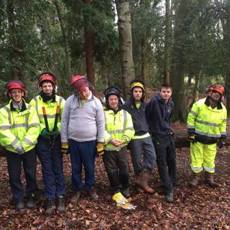 The team maintaining a local Nature Reserve  (Surrey Choices)