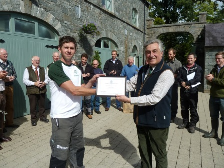 500th Cert Arb presented to Northern Ireland's Laurence Christie  (Royal Forestry Society)