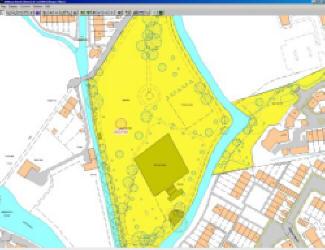 Screen shot from Ezytreev tree management database  of the War Memorial Park in Romsey (Amelia Williams)