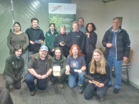 Dormouse class licence training in Belhus Wood, Essex  (P. Bolton 2018)
