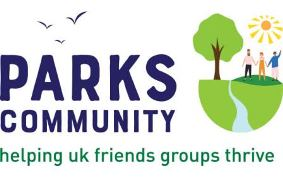 Logo: Parks Community - helping UK friends groups thrive