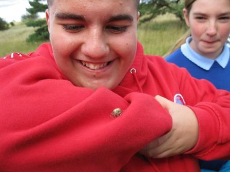 Matthew and a spider (Laura Douglas)