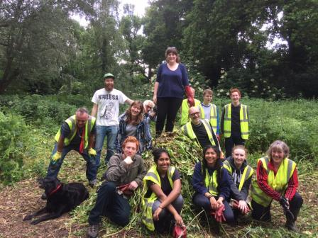 Volunteers enjoying getting out doors and restoring habitats  (The Environment Trust)