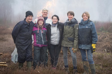 Many organisations give their employees time out from work to  volunteer (Heather Stuckey rspb-images.com)