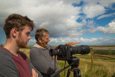 Volunteer photographers on Steart Marshes (WWT)