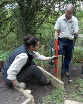 Step construction Biddulph Valley Way  (Cheshire East Council Countryside Ranger Service)