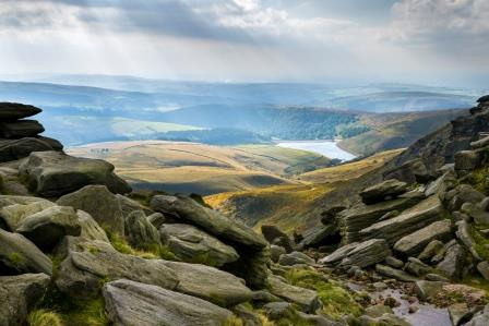 Dramatic landscape across Kinder, Edale and the Dark Peak  (National Trust images)