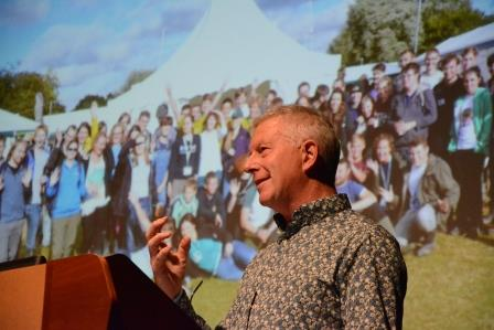 AFON Mentor and Founder, Stephen Moss, speaking at the Now for Nature conference 2019 (Steph Brown Photography)