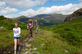 Walkers in the Snowdonia mountains Copyright Nigel Shepherd