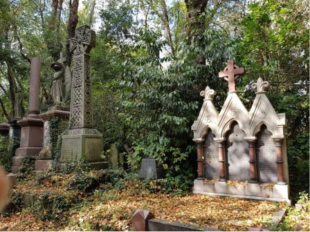 Abney Park Cemetery showing grave stones © Tim Webb