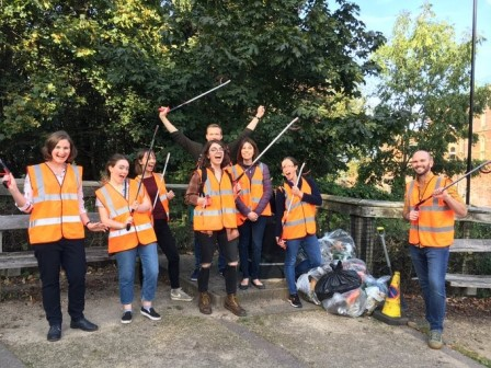Staff and students at the University of Sheffield undertake regular litter picks in the local area to prevent hedgehogs getting caught up and hurt (Hedgehog Friendly Campus)