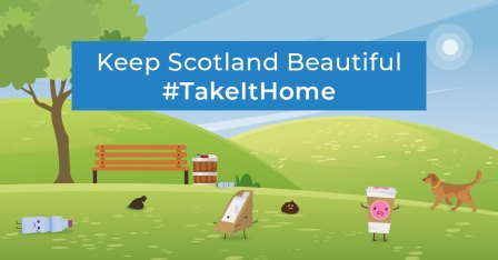 Parks #TakeItHome litter collateral available for download (Keep Scotland Beautiful)