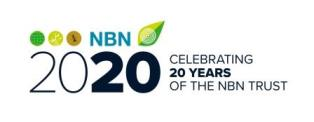Logo: NBN - celebrating 20 years of the NBN Trust