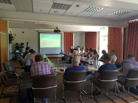Training new citizen scientists on how to identify and help record eelgrass presence and location across the Channel Islands, for the Bailiwick Eelgrass Exploration Project (©Mel Broadhurst-Allen, Alderney Wildlife Trust)