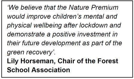 Quote from Lily Horseman, Chair of the Forest School Association