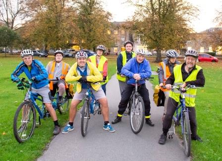 Harrogate Tandem Club on Harrogate Stray (Open Country)